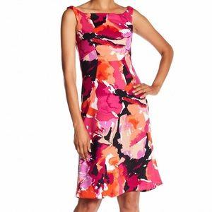 Trina Turk 💦 watercolor sheath  Sleeveless dress